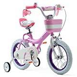 Royalbaby Girls Bike Bunny 16 Inch Girl's Bicycle With Training Wheels Kickstand Basket Child's Girl's Bike Pink