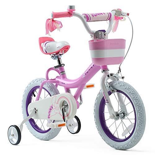 Royalbaby Girls Bike Bunny 12 Inch Girl's Bicycle With Training Wheels Basket Child's Girl's Bike Pink