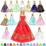 Miunana 15= 5 Abendkleid Hochzeit Fashionistas Prinzessinnen Kleidung Kleider Puppenkleid 10 Paar...