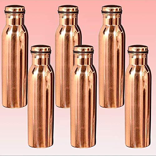 Kajal Toys Brijbazaar Copper Leak Proof Bottle (1000 ml) -Combo Pack of 6
