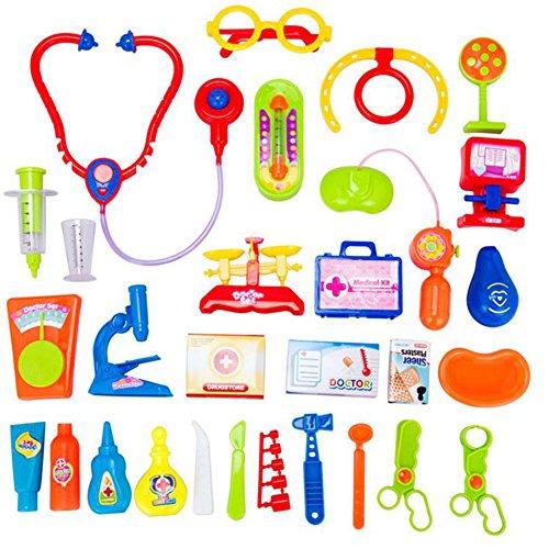 Black Temptation Jouets éducatifs Pretend & Play Doctor Set Durable Enfants Doctor Kit