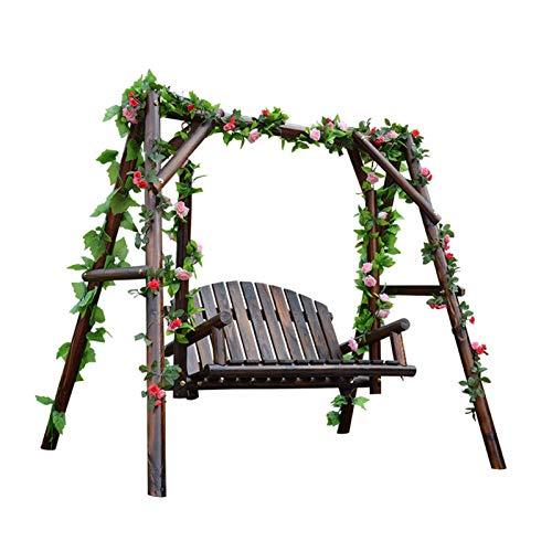 Glider de swing grande al aire libre con soporte, Silla de swing de patio al aire libre, silla de giro del pórtico de pórtico perezoso dazz hamaca swing banco al aire libre pórtico jardín y columpio j