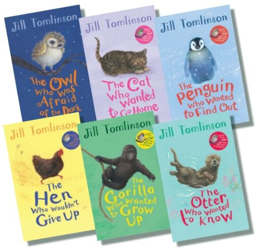 Jill Tomlinson Collection – 6 books, RRP £35.94, (The Owl Who Was Afraid of the Dark; The Otter Who Wanted to Know; The Cat Who Wanted to Go Home; The Penguin Who Wanted to Find Out; The Gorilla Who Wanted to Grow Up; The Hen Who Wouldn't Give Up)