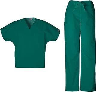 Cherokee Workwear Originals Unisex Scrub Set - 4777 V-Neck Tunic & 4100 Drawstring Cargo Pant
