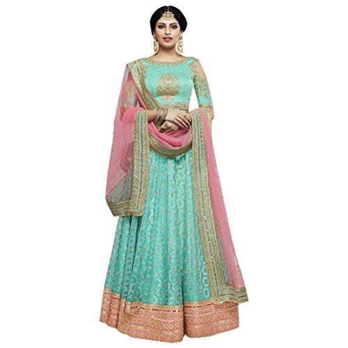 Rama Verde Elegante Red Lehenga Choli Ghagra Dupatta India Fiesta Estilo Mujeres Boda Zari Festival 8161