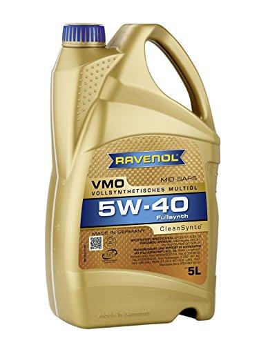 RAVENOL VMO SAE 5W-40 / 5W40 Vollsynthetisches Motoröl, ACEA C3 (5 Liter)