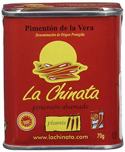 La Chinata - Pimentón de la Vera - Pimentón Ahumado (Picante, Lata 70 gramos)