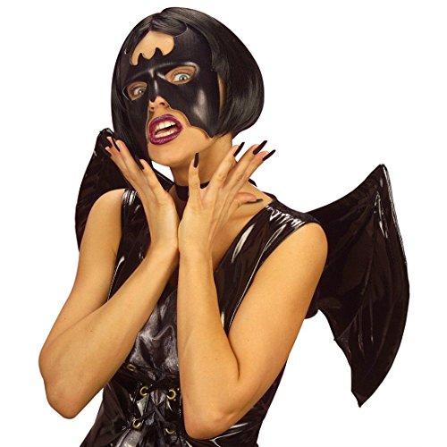 NET TOYS Murciélago Negro máscara Halloween Carnaval