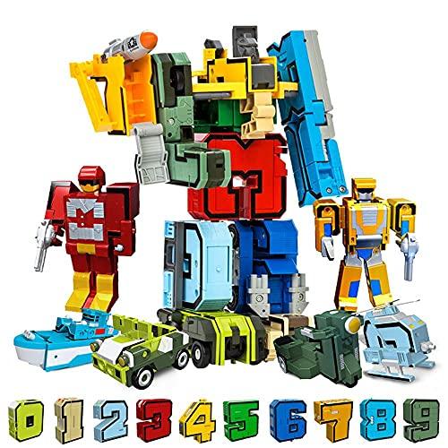 OBEST Trasformatore di Numeri Robotici Giocattoli, 15 Simboli Digitali Deformazione Carro...