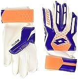 Lotto Glove Gk Spider 900 Jr - Guantes de fútbol para niños, Color Blanco/Azul, Talla 6