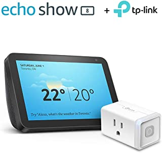 Echo Show 8 (Charcoal) with TP-Link Smart Plug