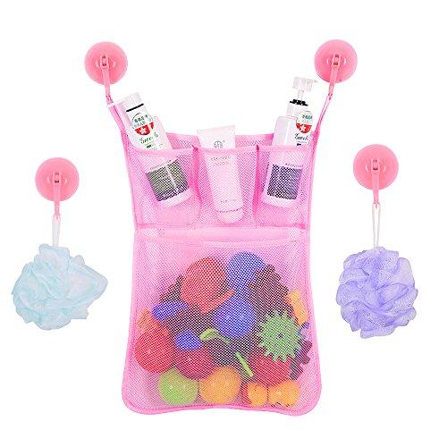 BrilliantDay Rangement de jouets de bain pour bébé avec 2 crochets adhésifs ultra-résistants - Grand rangement de jouets pour garçons et filles et panier de douche#2