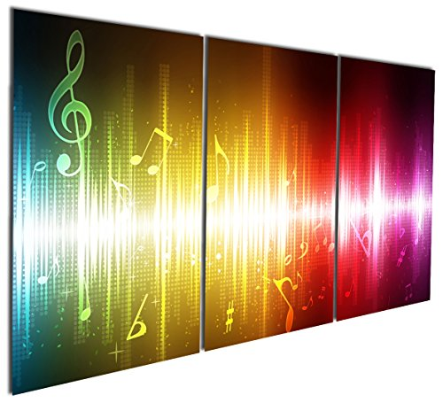 Gardenia Art - Beating Music Notes Canvas Wall Art Paintings Colorful Abstract Art Artwork for Home and Office Decoration, 16X24'' Per Piece, Unframed