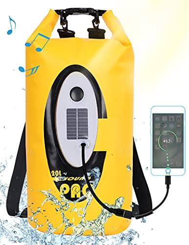 Floating Dry Bag Waterproof with Bluetooth Speaker Solar Light - 20L...