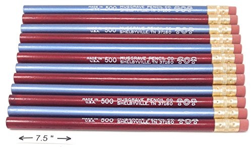 Jumbo TOT pencil, Round, 10mm Metallic Blue and Red, Med Soft Core (Package of 12)