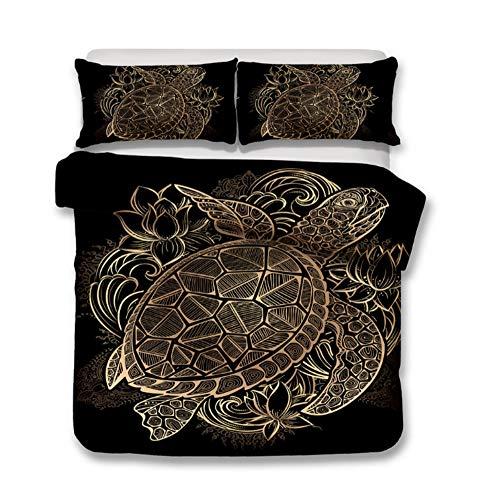 BEDSETAAA Duvet Set Bohemian Exotic Pattern Inspiration Design Juego De Cama En 3D, A