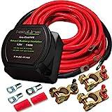 KeyLine Chargers 12V 140 Amp Dual Battery Isolator Voltage Sensitive Relay (VSR) Pro Dual Battery Kit