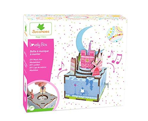 Kit de loisir créatif enfant - Boîte à musique à monter - Thème Paris - DIY - Lovely Box Grand Modèle Collector - Dès 7 ans - Sycomore - CRE5070
