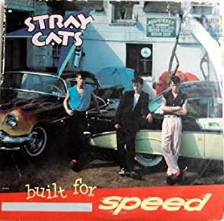 STRAY CATS - BUILT FOR SPEED - EMI AMERICA RECORDS -COLLECTOR'S STORE 1982 V G+