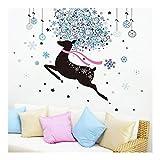 Yubing Wandaufkleber Tierbild Wohnzimmer Wanddekoration PVC Wasserdicht Selbstklebend -