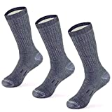 MERIWOOL Merino Wool Hiking Socks for Men and Women – 3 Pairs Midweight Cushioned – Warm n...