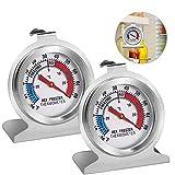 Sunshine smile Gefrierschrankthermometer, 2 Stück kühlschrankthermometer Set,Thermometer rund,eisfach Thermometer,kühlthermometer,Thermometer für kühlschrank gefrierschrank