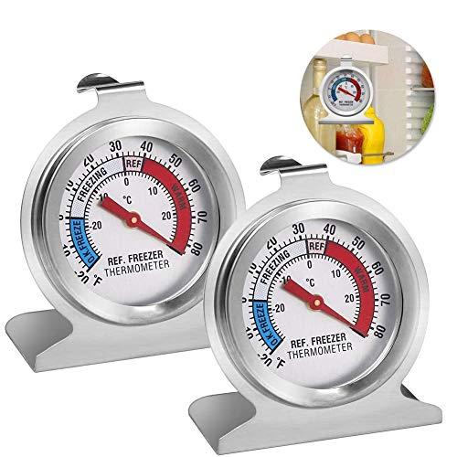 Gefrierschrankthermometer, 2 Stück kühlschrankthermometer set,thermometer rund,eisfach thermometer,kühlthermometer,thermometer für kühlschrank gefrierschrank