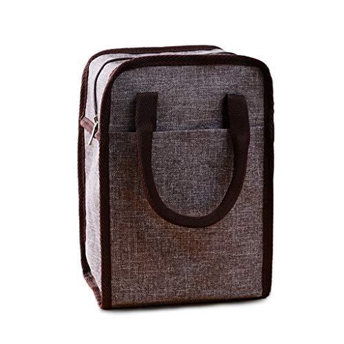 UCYG isolatietas, kleine waterdichte picknickmand voor mannen en vrouwen, kinderen, draagbaar pak cool bag box voor picknick, camping, auto, 26 x 18,5 x 15 cm, bruin