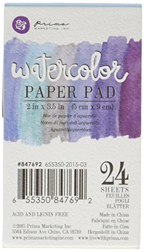 Prima Marketing 2'x3.5' Watercolor Paper Pad 24pc 140lbs cold press