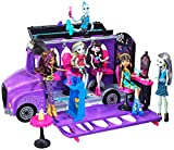 Monster High Mattel - FCV63 Jeu de Jeux - Bus de et Salon Mobile - Piscine Pédicure - Poupée Fashion