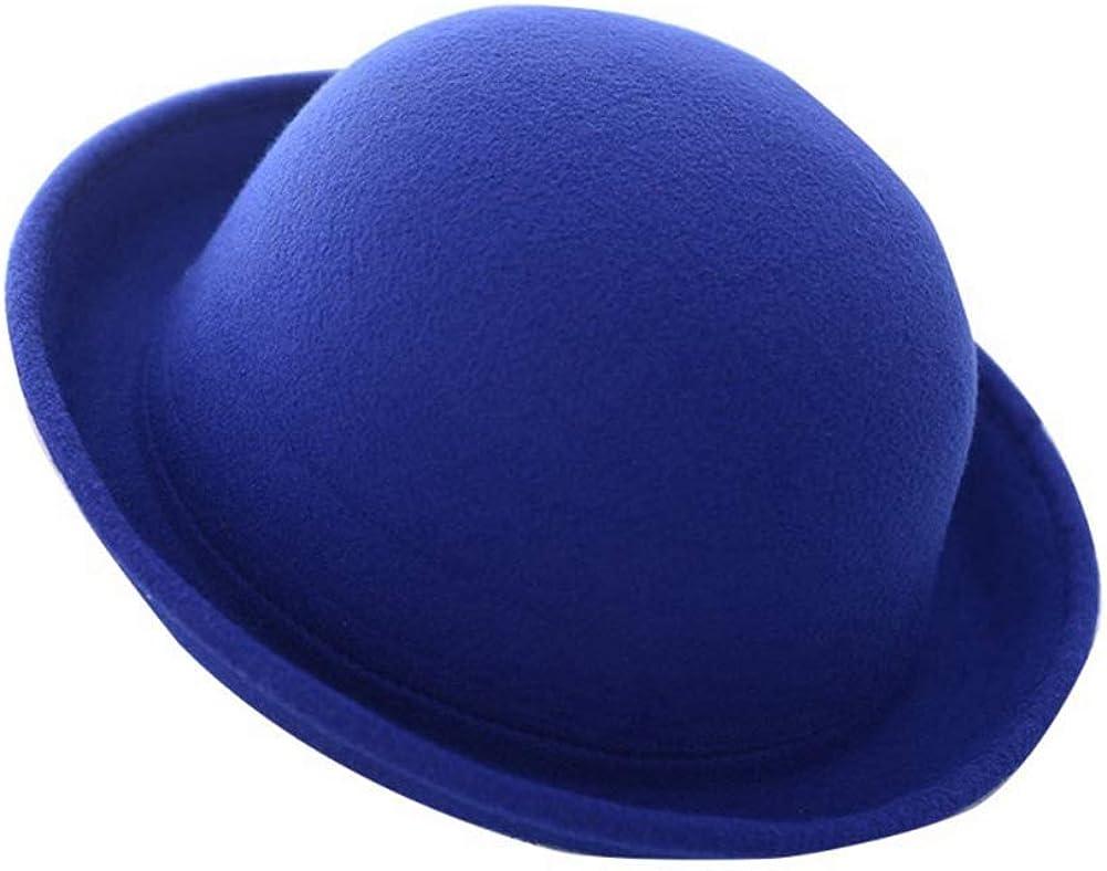 Unisex Fashion Fedora Vintage Bowler Top Hats Roll Brim Fedora Dome Cap