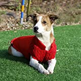 XIAOTAO Ropa Mascotas Clásico Retro Lana Patchwork Marca Abrigo Mascotas Invierno Chaqueta Suave Perros Chaleco Mascotas Traje cálido Mascotas Perros pequeños medianos Regalo Gatos y Perros-M
