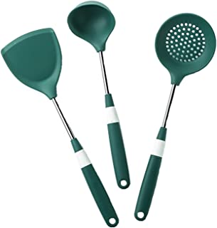 YIFEI2013-SHOP Spatula Daily Kitchen Spatula Set Heat Resistant Silicone and Stainless Steel - Flexible Silicone Spatulas ...