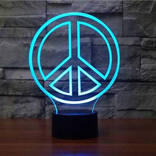 La luz Nocturna de 7 Colores Puede Cambiar la atmósfera de la lámpara de Mesa USB Dormitorio decoración de la Noche Regalo bebé lámparas para Dormir 1 Interruptor táctil