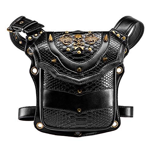 Outdoor Steampunk Schoudertas Lederen Retro Tactische Drop Been Arm Bag Pack Heup Riem Fanny Packs Portemonnee Portemonnee Tas Cosplay Thema Party