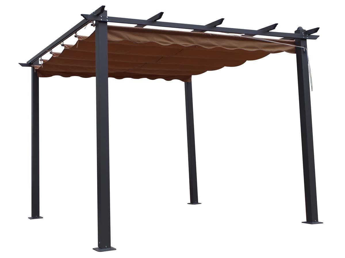 Pergola de aluminio Monica - 3 x 3 x altura .2.2 m - Color Taupe: Amazon.es: Jardín