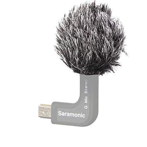 Saramonic Windschutz für Mikrofon im Freien mit Saramonic-Haar für das Mikrofon, Stereo, G-Mic, für GoPro