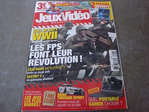 """JEUX VIDÉO MAG N°197 !! """"LES FPS FONT LEUR RÉVOLUTION !"""" OFFERTS 2 POSTERS : STAR WARS BATTLE FRONT II & CALL OF DUTY"""