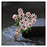 Zxebhsm Spilla Zirconia Flower Tree Spille per Le Donne Elegante Moda Pin Matrimonio Beautiful Shiny 2 Colors Disponibili (Metallfarbe : Rose)