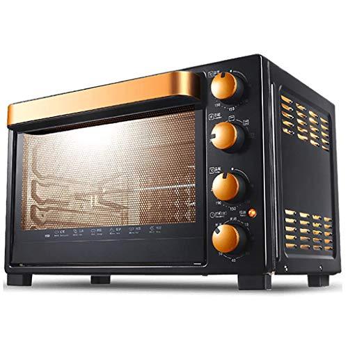 NLRHH Gourmet Pizza-Ofen, Frühstück-Maschine, 32L, unabhängige Temperaturregelung, 4-Schicht-Röstung, eingebaute Beleuchtung, 360 Grad;Rotat. Peng