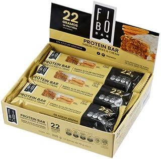Barras de Proteína Fibo sabor Cookies and Cream con 24 barras de 65g c/u con 22g de proteína