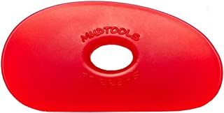 Sherrill Mudtools Shape 1 Polymer Rib for Pottery and Clay Artists, Red Color Very Soft