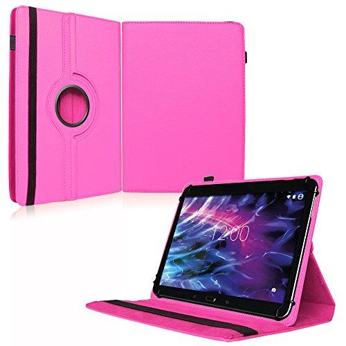 NAUC Medion Lifetab P9702 Tablet Case Cover Pink Cover Case 360 draaibaar