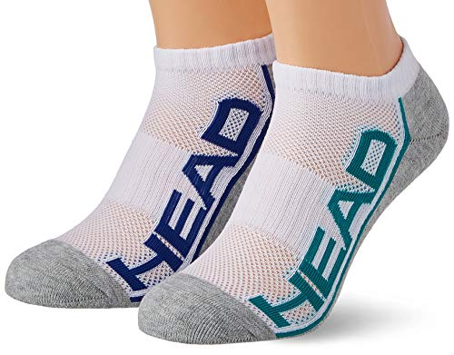 HEAD Unisex-Adult Performance Sneaker – Trainer (2 Pack) Socks, Grey Melange, 39/42