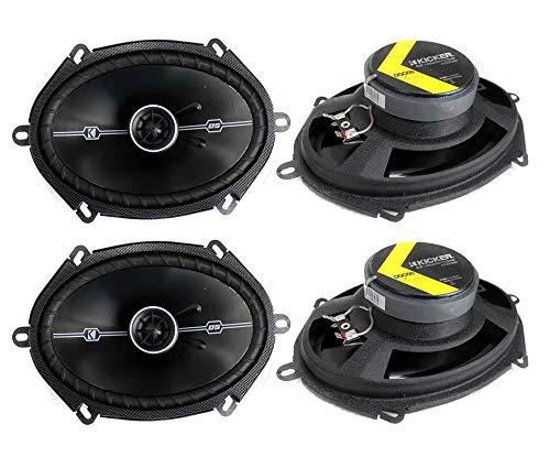 4 Kicker 41DSC684 D-Series 6x8 400 Watt 2-Way 4-Ohm Car Audio Coaxial Speakers