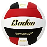 Baden Perfection Elite Official Size 5 Volleyball, Red/White/Black
