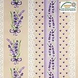 tissu Stoff Baumwollstoff Motiv Provence mit Lavendel 150