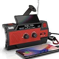 Radioddity SW3 4000mAh Hand Crank Solar-Powered Emergency Radio