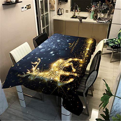 MMHJS Série Animale Wapiti Nappe Imperméable Polyester Étoile 3D Impression Rectangulaire Ménage Table À Café Nappe A 100X140 cm