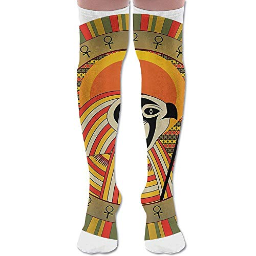Ancient Egypt Sun Image Athletic Tube Stockings Women's Men's Classics Knee High Socks Sport Long Sock